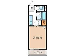 サンフラット[2階]の間取り