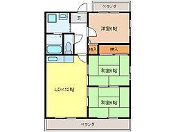 杉山マンション[201号室]の間取り