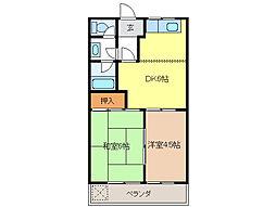 サンハイツNAWA B[2階]の間取り