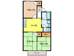 ホワイトベース[2階]の間取り