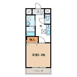 長良S様2期新築アパート[1階]の間取り