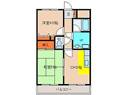 北海道函館市湯川町2丁目の賃貸マンションの間取り