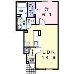 北海道函館市上湯川町の賃貸アパートの間取り