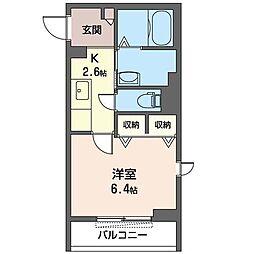JR内房線 姉ヶ崎駅 徒歩2分の賃貸マンション 1階1Kの間取り