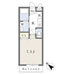 JR内房線 五井駅 徒歩7分の賃貸アパート 1階1Kの間取り