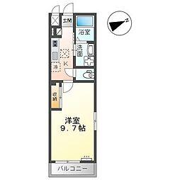 JR内房線 八幡宿駅 徒歩12分の賃貸アパート 1階1Kの間取り
