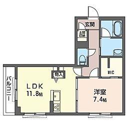 JR内房線 八幡宿駅 徒歩7分の賃貸マンション 2階1LDKの間取り