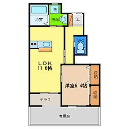 マルハII番館[1階]の間取り