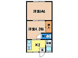 コーポ井上[2階]の間取り
