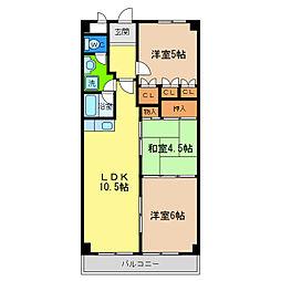 第16柴田マンション[4階]の間取り