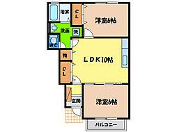 ディアス38[1階]の間取り