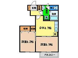 ローズスクエアー[1階]の間取り