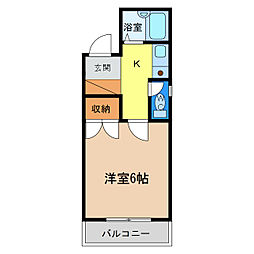 シティガーデン富田[7階]の間取り