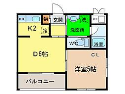 アップフィールド富田橋[1階]の間取り