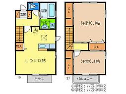 [テラスハウス] 徳島県徳島市城南町4丁目 の賃貸【/】の間取り
