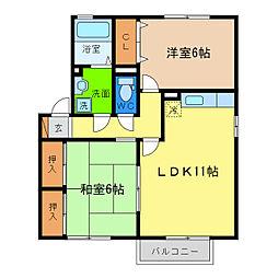 サンステージ小松島II[2階]の間取り