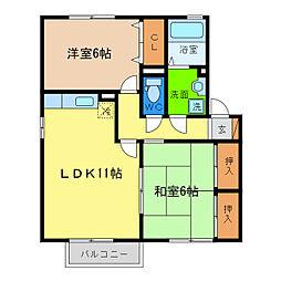 サンステージ小松島II[1階]の間取り