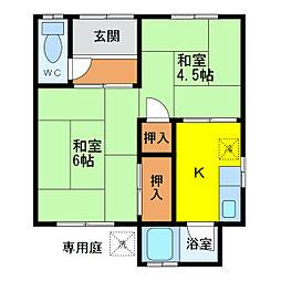 [一戸建] 徳島県徳島市八万町中津浦 の賃貸【/】の間取り