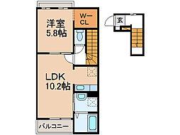 ヴィクトワールA・B[1階]の間取り
