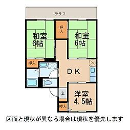 オディール古屋1・2[1階]の間取り