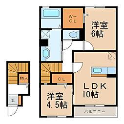 D-room楠見中[2階]の間取り