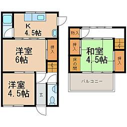 [一戸建] 和歌山県和歌山市塩屋3丁目 の賃貸【/】の間取り