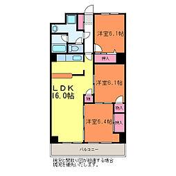 第三関屋マンション[3階]の間取り
