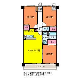 エトワール神道寺[2階]の間取り