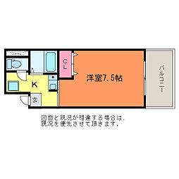 ゆうマンション[5階]の間取り