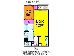 GEO水島町[1階]の間取り