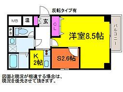 ショゼ関南町[2階]の間取り