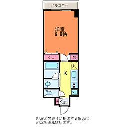 GEO万代4丁目[6階]の間取り