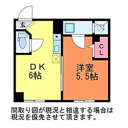 ゆうマンション明石[4階]の間取り