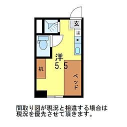 ゆうマンション明石[3階]の間取り