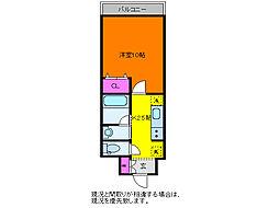 パークソレイユ3番館[5階]の間取り
