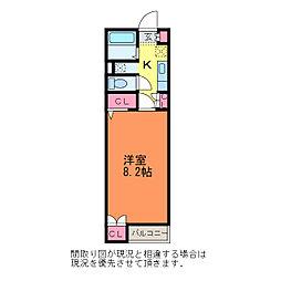 新潟県新潟市中央区沼垂西1丁目の賃貸アパートの間取り