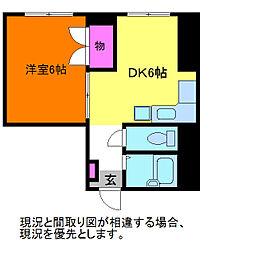 東亜堂ビル[4階]の間取り