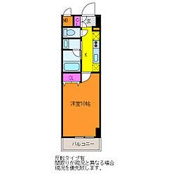 パークソレイユ新潟駅前[4階]の間取り