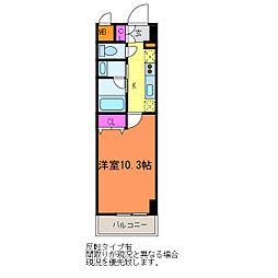 パークソレイユ新潟駅前[1階]の間取り