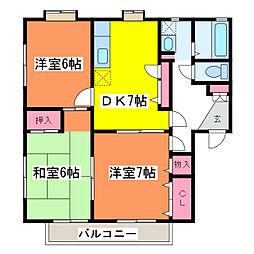 Villaグランメール A棟[2階]の間取り