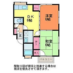 新潟県新潟市中央区関屋金鉢山町の賃貸アパートの間取り