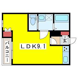 メゾンT・S学校町[3階]の間取り