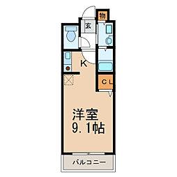 和歌山県岩出市清水の賃貸アパートの間取り