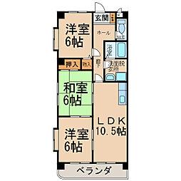 グレース21[1階]の間取り