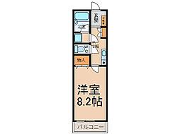 ラビングU[1階]の間取り