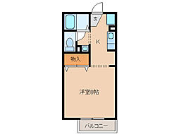 サニーサイドコーポ川西[1階]の間取り