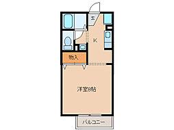 サニーサイドコーポ川西[2階]の間取り