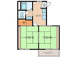 タウニー437[2階]の間取り