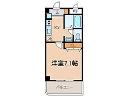 リバーサイド21(常普請)[1階]の間取り
