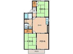 タウンKOSE6棟[2階]の間取り